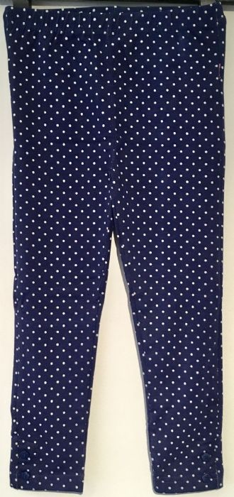 ex JOJO NAVY SPOTTY GIRLS LEGGINGS 0-3m - 4-5yrs